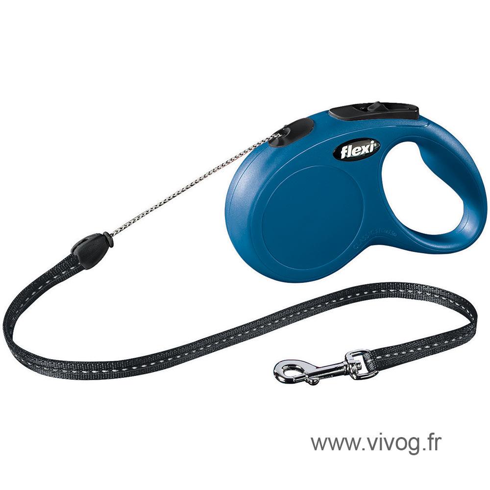 Laisse cordon pour chat et petit chien - New Classic - Flexi - bleu