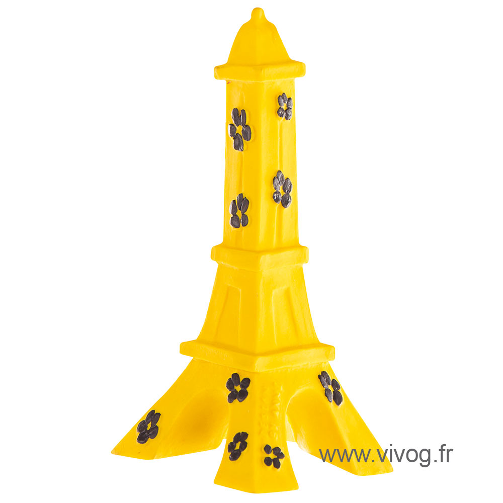 Dog Toy - Eiffel Tower - Yellow