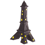 Dog Toy - Eiffel Tower - Black