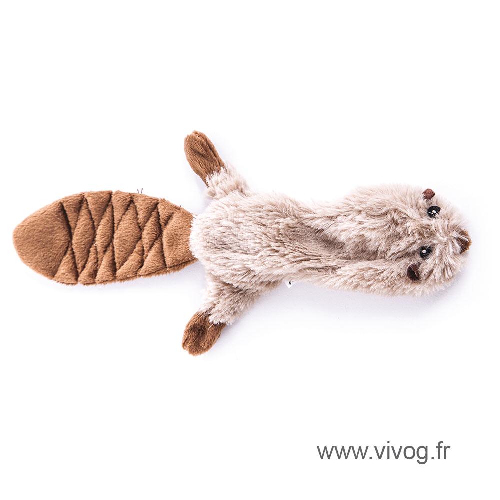 Dog Toy - Plush crushed sound - Beaver