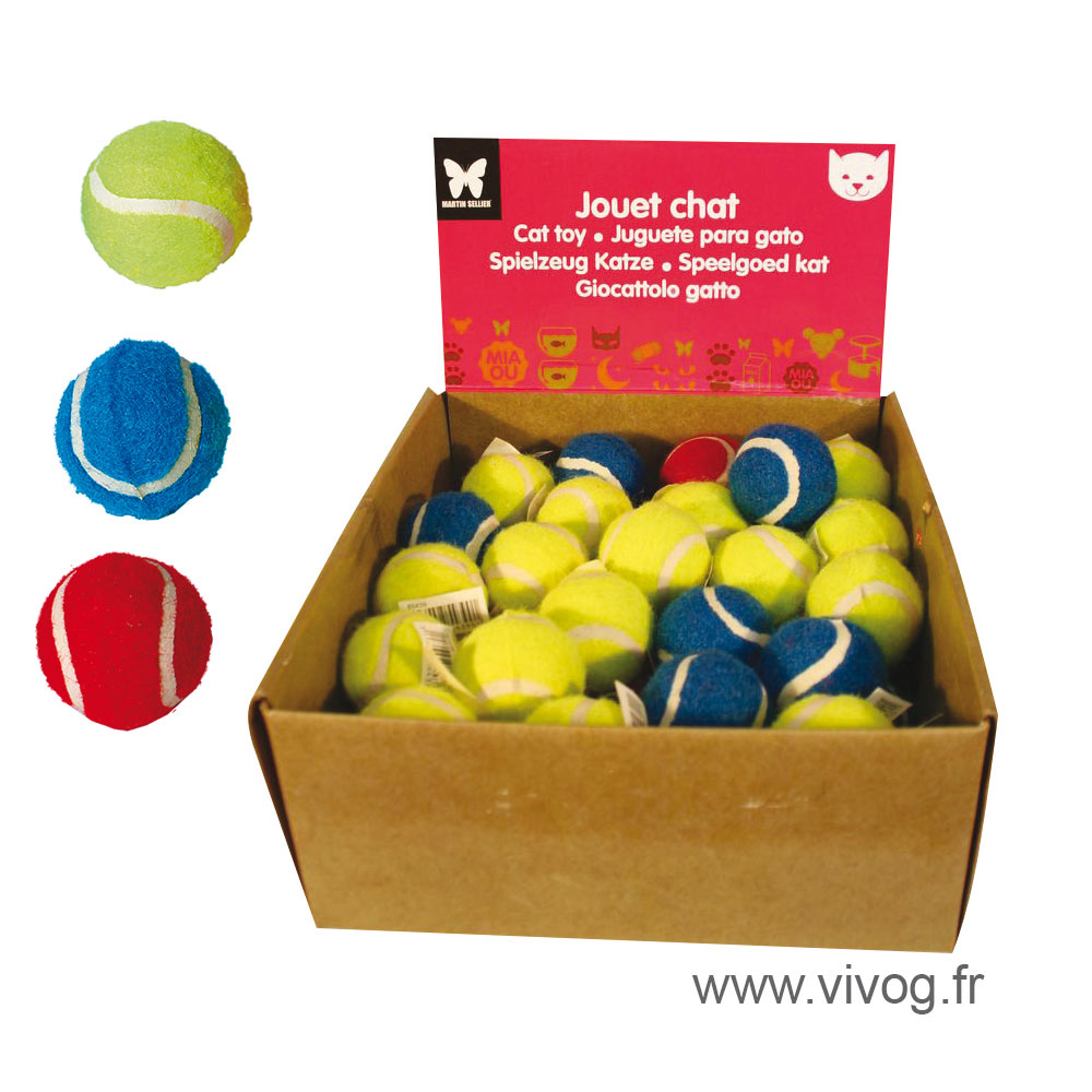 Set of cat toys - tennis balls