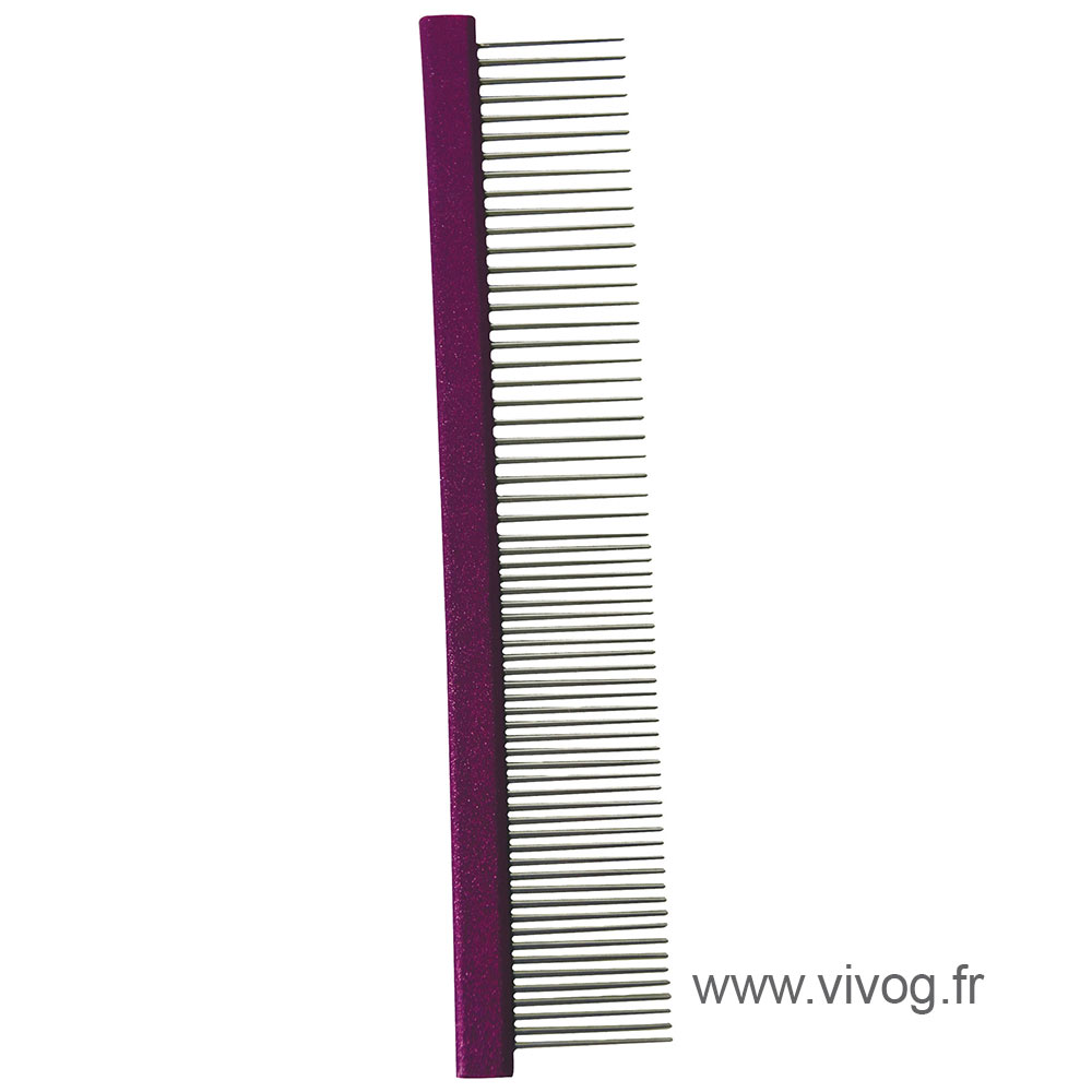 Dog and cat comb - rectangular back 19.5 cm