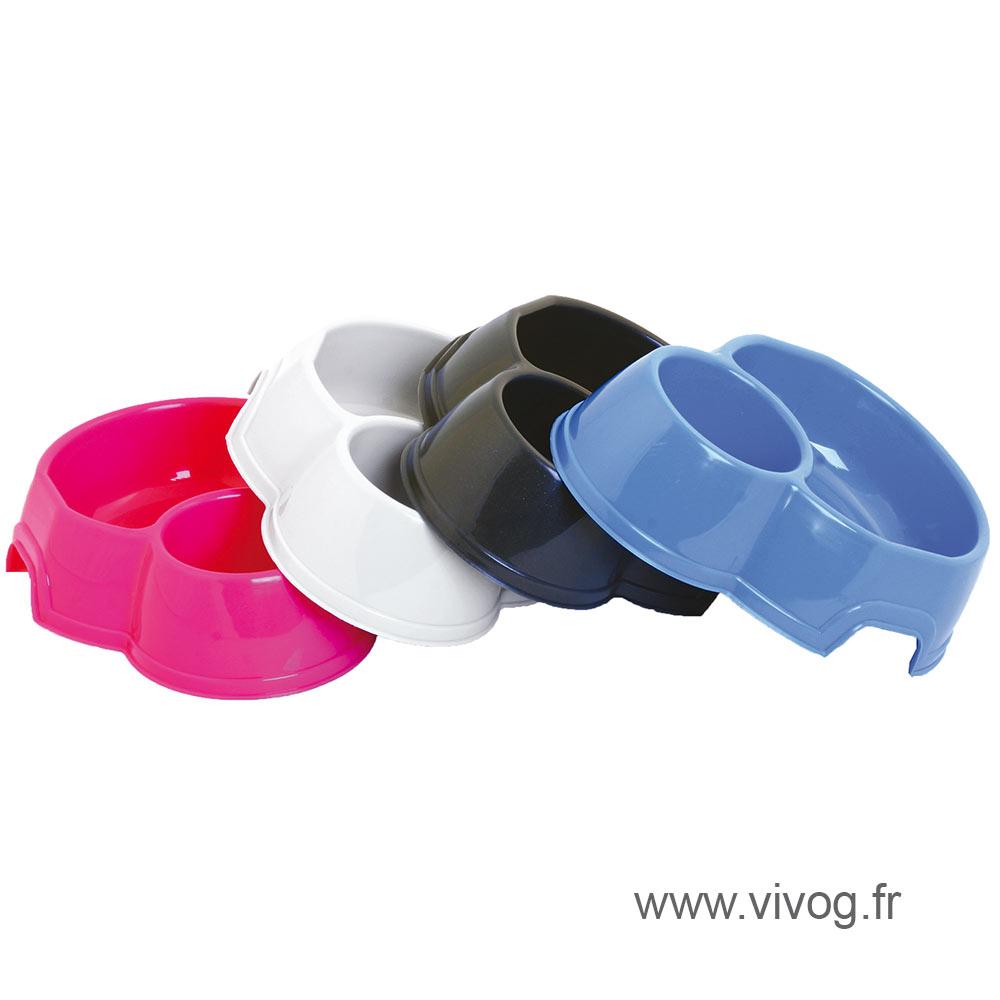 Gamelle pour chien - plastiques doubles