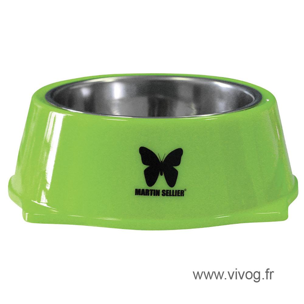 Gamelle pour chien - inox et mélaminées - vert
