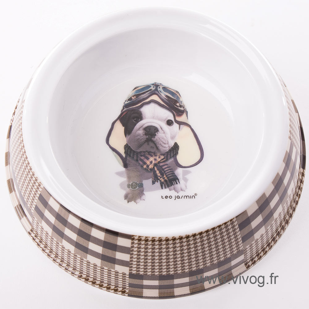 Gamelle pour chien - Téo Jasmin Aviateur