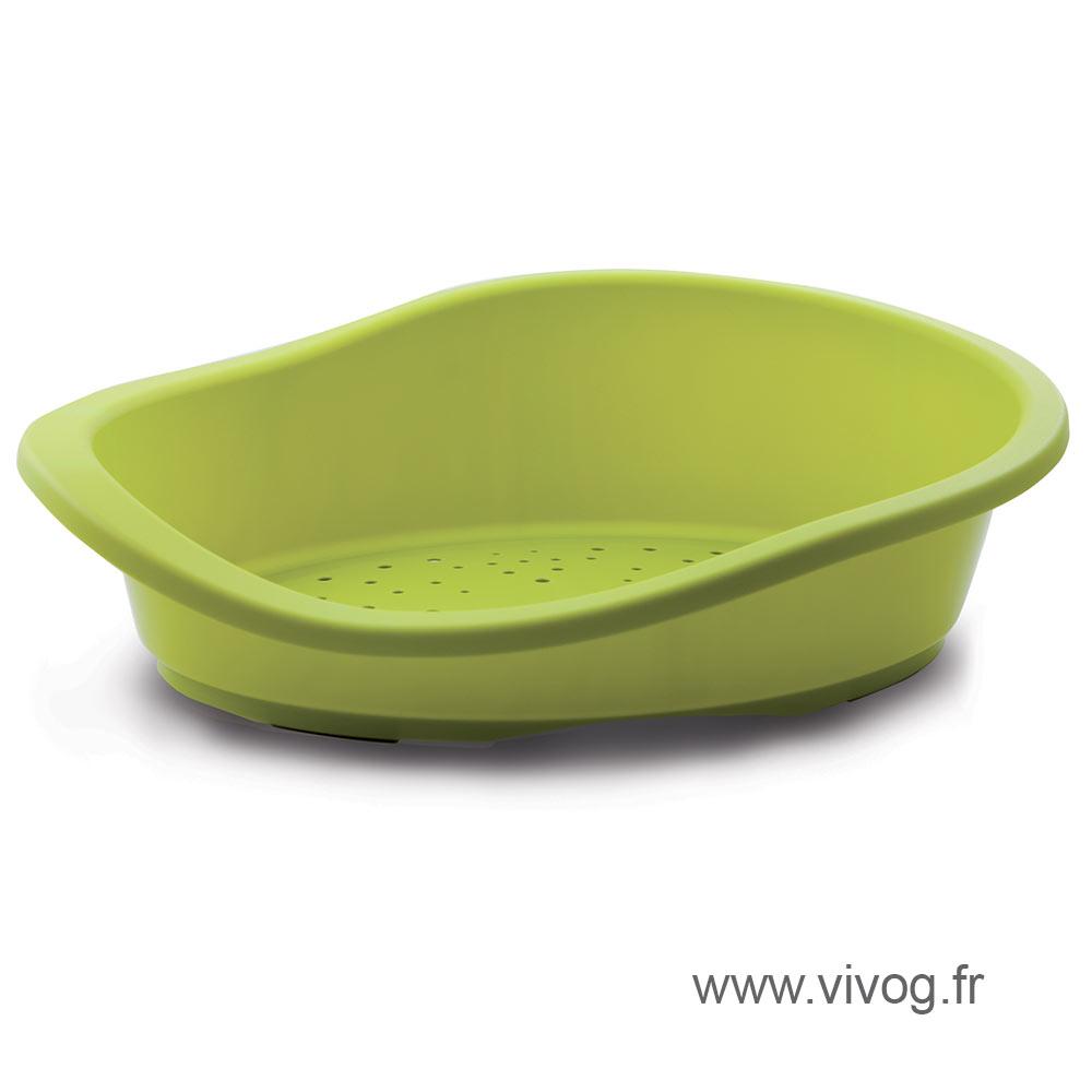 Corbeille plastique pour chien - vert