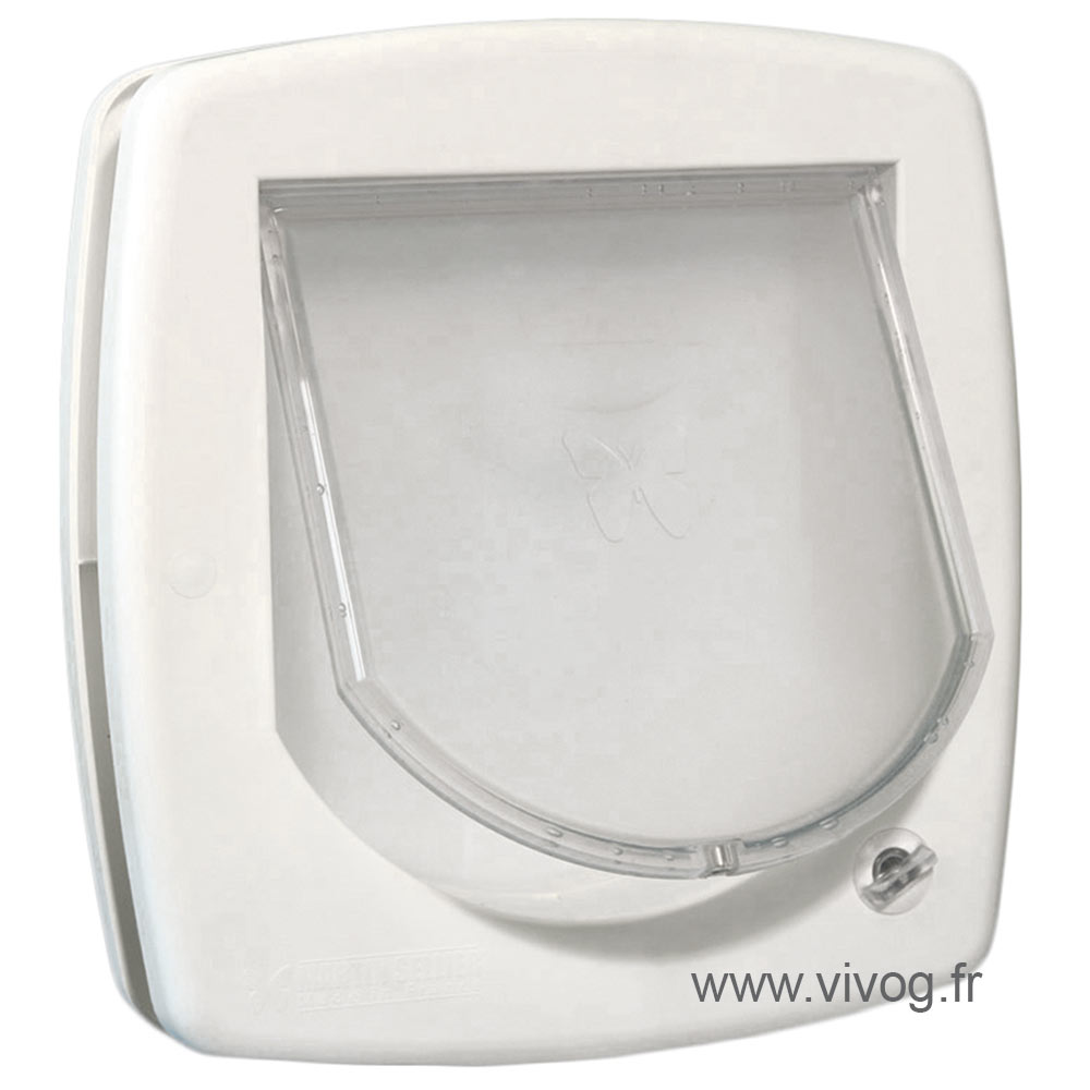 Manual cat flap positions 2 - White