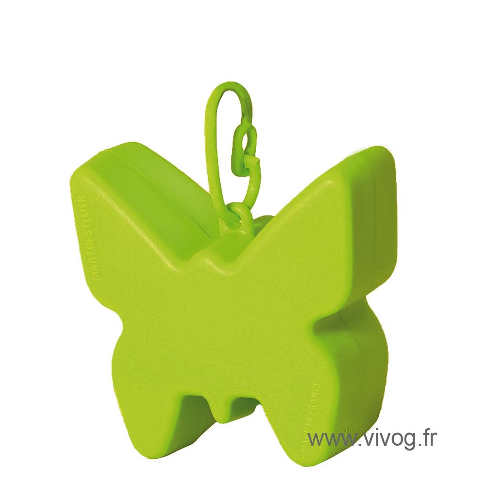 Ramasse crotte - distributeur de sac - vert