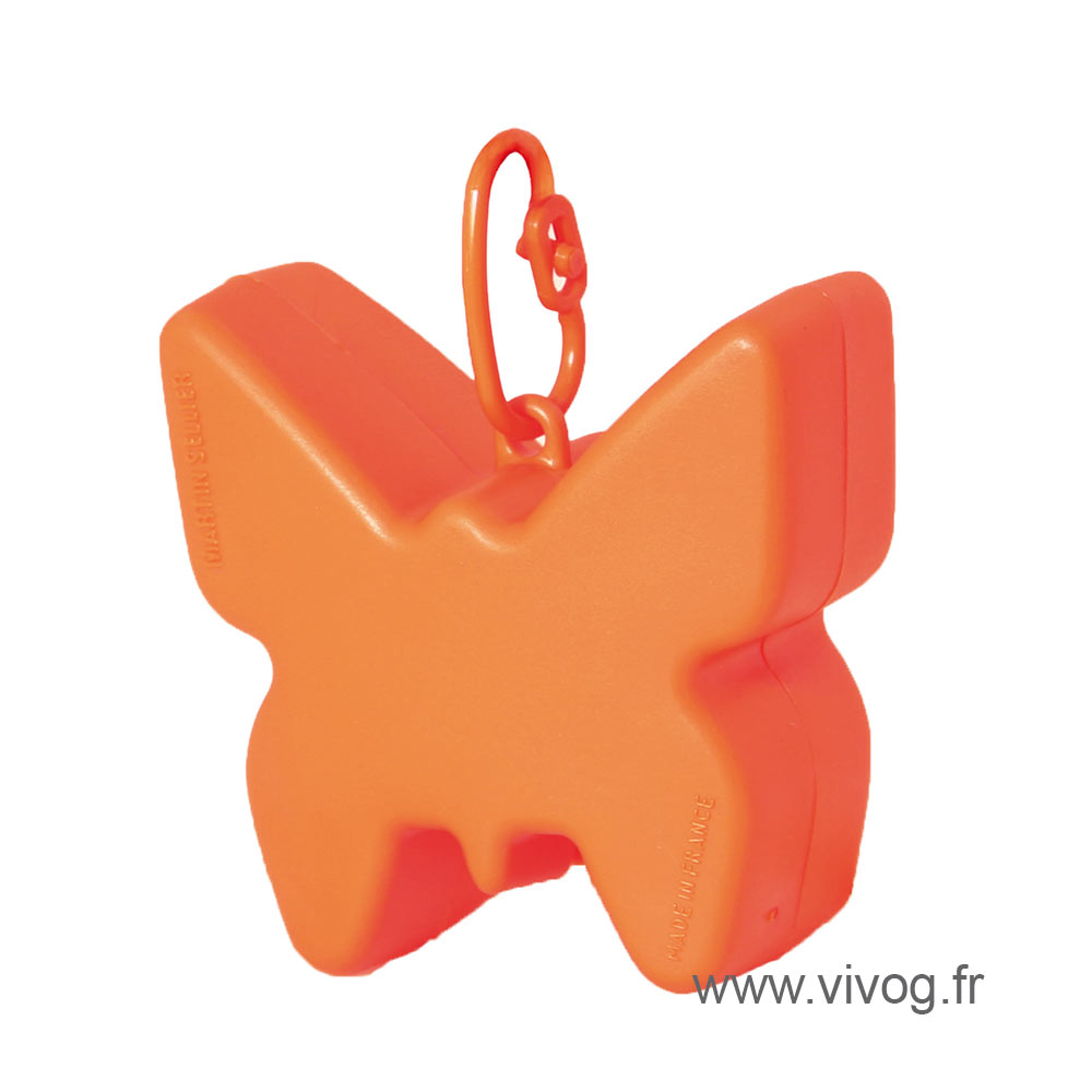 Ramasse crotte - distributeur de sac - orange