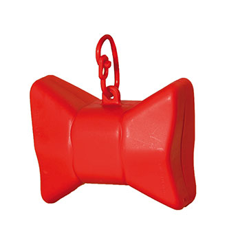 Picks up dirt - bag dispenser - Bow red