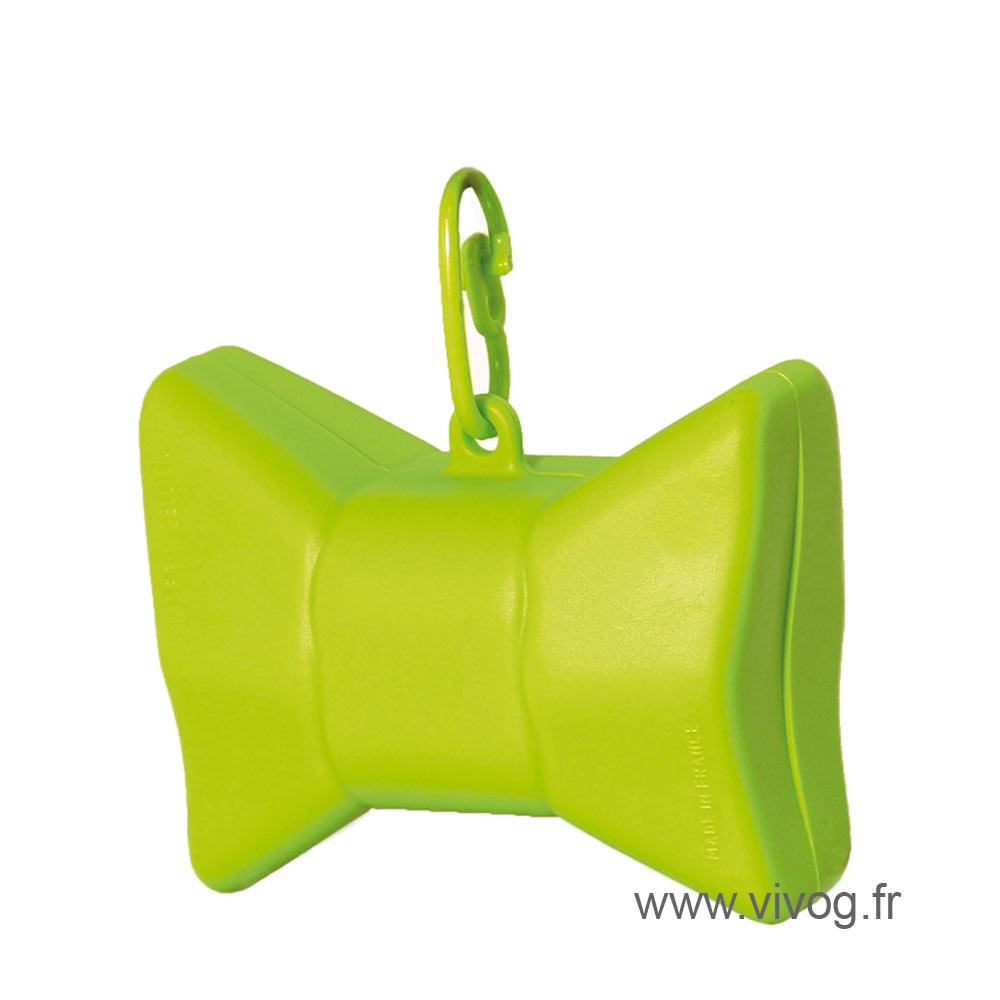 Ramasse crotte - distributeur de sac - Nœud vert