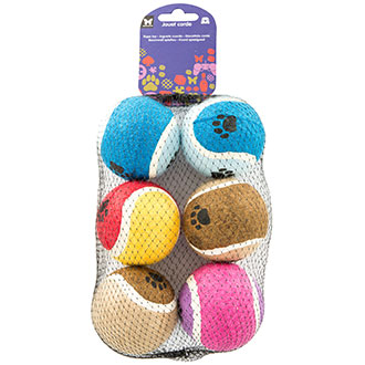 Dog Toy - Set of 6 tennis balls