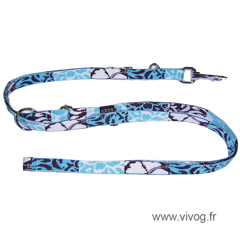 Dog training lead 3 positions - Bamboo Opal