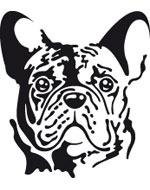 More informations about: French Bulldog Sticker - 2 sizes - 4 colors