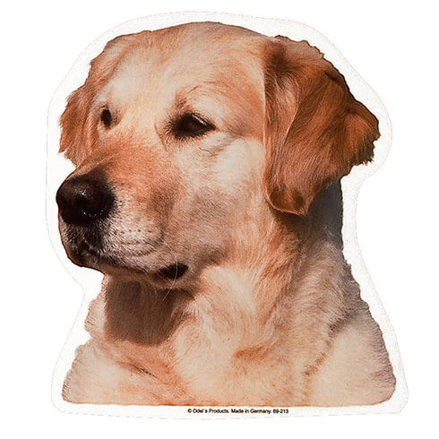 Plus d'informations sur le produit : Autocollant Golden Retriever - 15cm