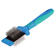 More informations about: Brush / slicker 2 sides - pins hard / soft - Medium - 7 cm