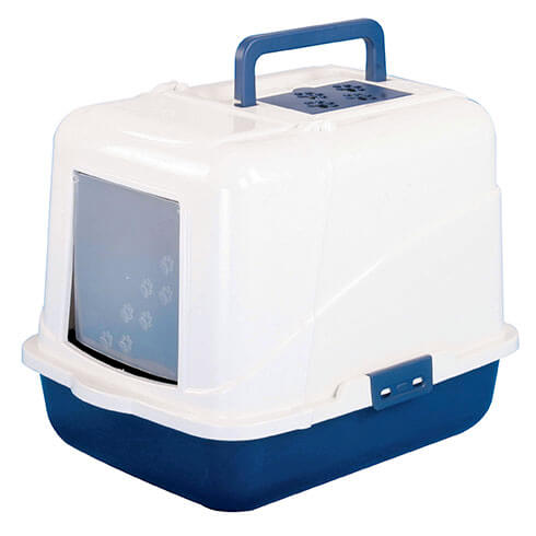 More informations about: Cat litter tray covered blue