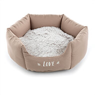 More informations about: Beige round basket for dogs - Igloo - Martin Sellier