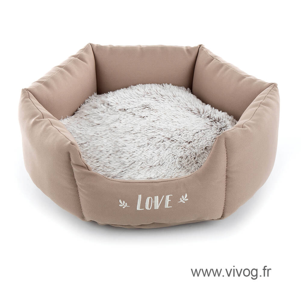 Beige round basket for dogs - Igloo - Martin Sellier