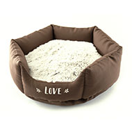 More informations about: Brown round basket for dogs - Igloo - Martin Sellier