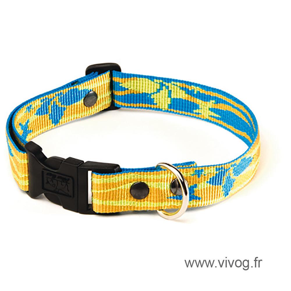 Dog collar - Yellow Lagoon