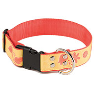 More informations about: Dog collar - Floralies yellow