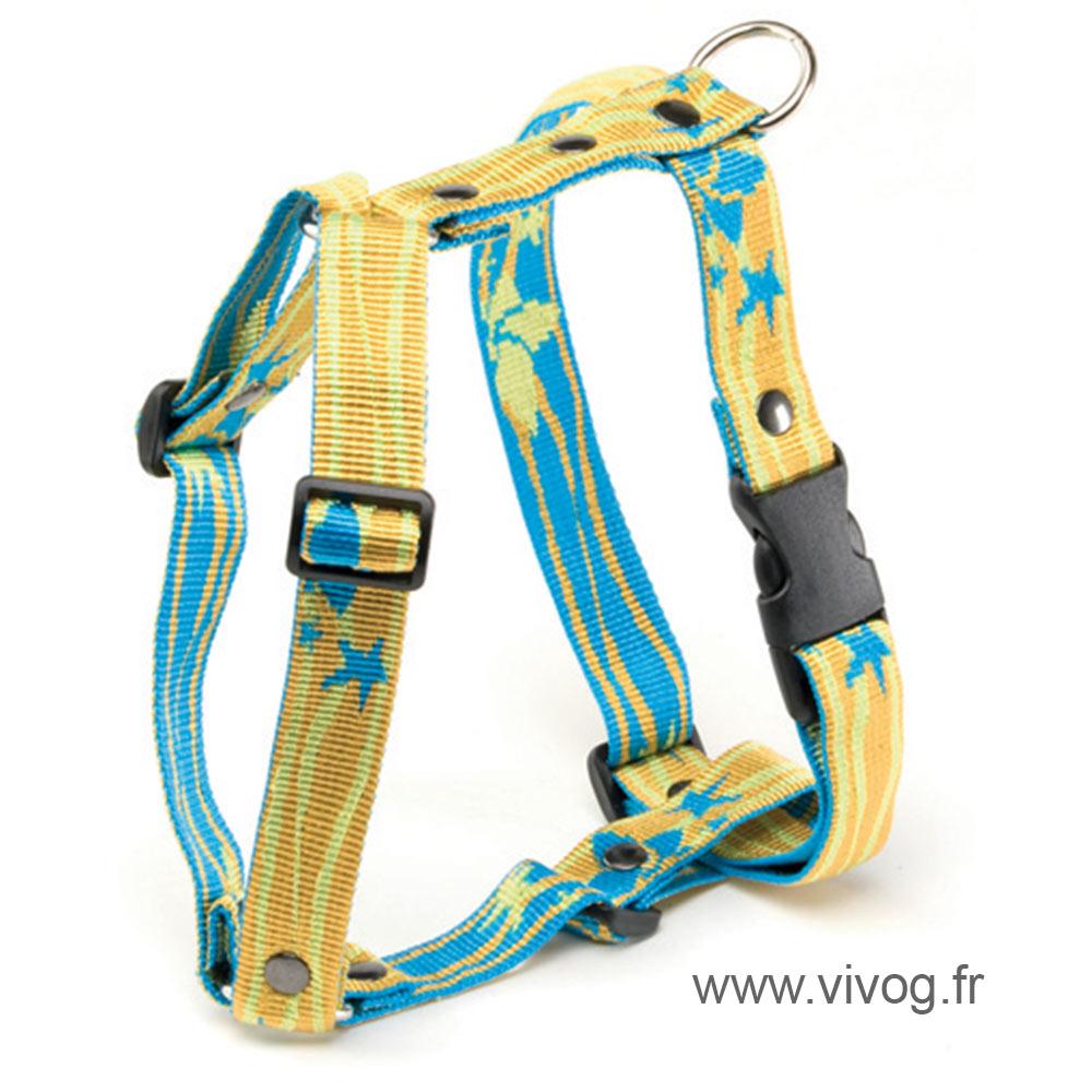 Harnais pour chien - Lagoon jaune