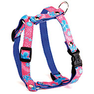 More informations about: Dog harness - Pink's Floralie