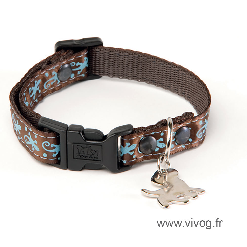 Dog collar - brown Salamander