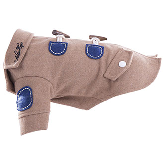 Dog coat - Duffle coat camel
