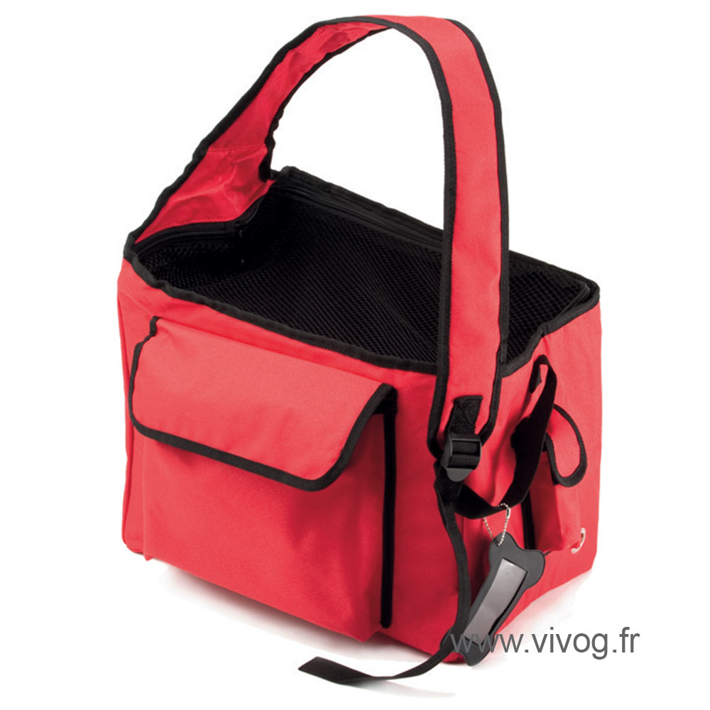 Carrying bag for dogs and cats - Balladin red