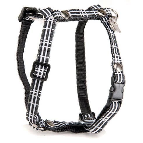 More informations about: Dog harness - Black & White Grid