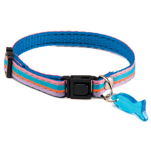 More informations about: Adjustable Cat Collar - Baïa - Blue