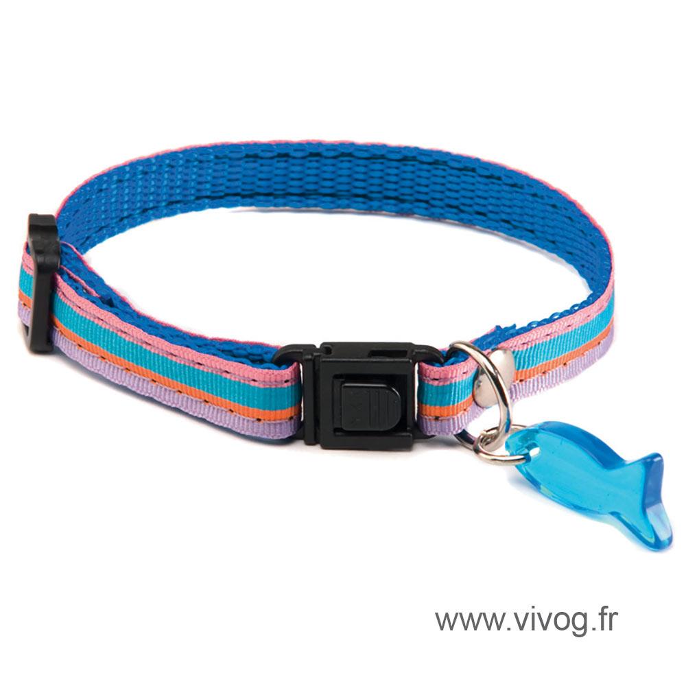 Adjustable Cat Collar - Baïa - Blue