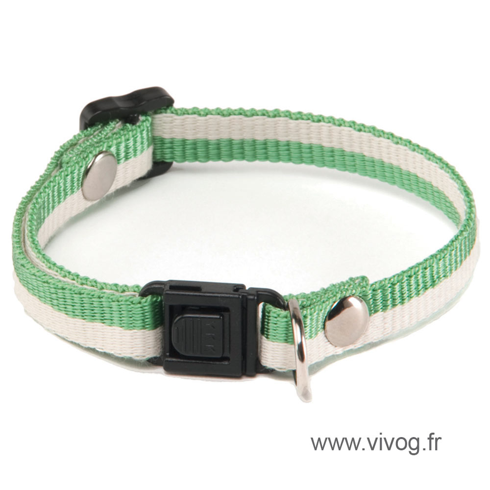 Adjustable Cat Collar - Bamboo - Green