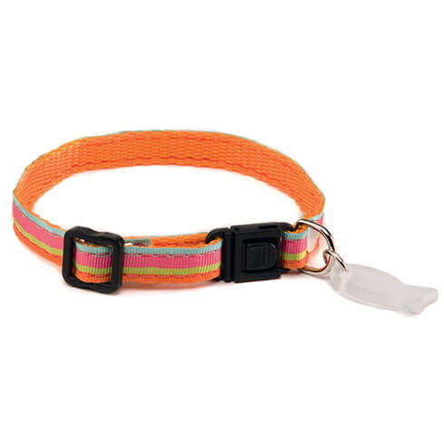 More informations about: Adjustable Cat Collar - Baïa - Orange