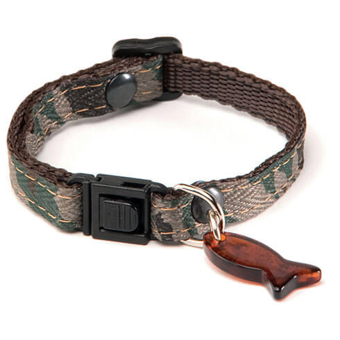 More informations about: Adjustable Cat Collar - Camouflage - Green