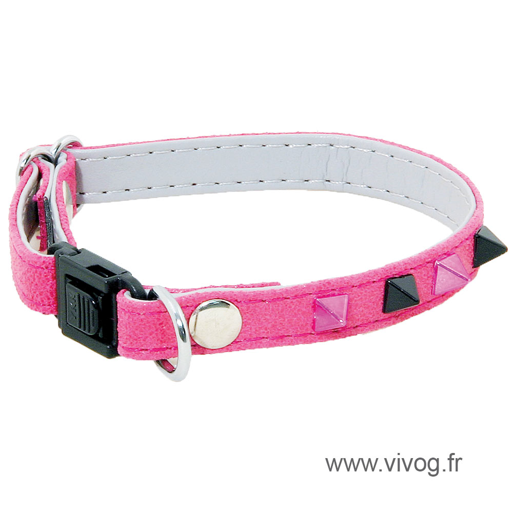 Adjustable Cat Collar - Glam & Color - pink