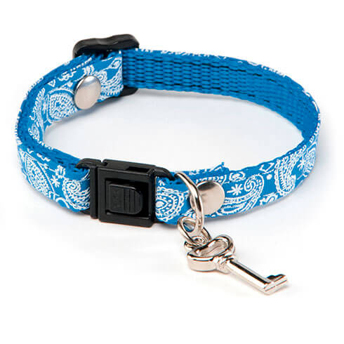 More informations about: Adjustable Cat Collar - Bandana - Blue