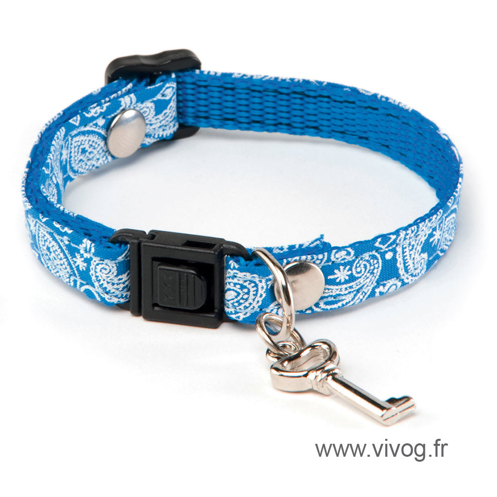 Adjustable Cat Collar - Bandana - Blue