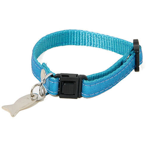 More informations about: Adjustable Cat Collar - Disco - bleu