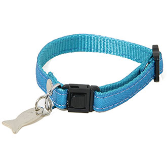 Adjustable Cat Collar - Disco - bleu
