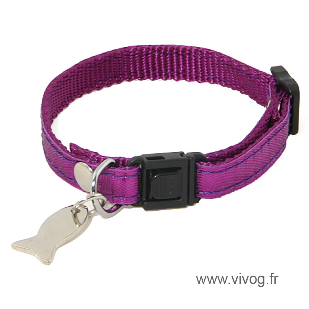 Adjustable Cat Collar - Disco - violet