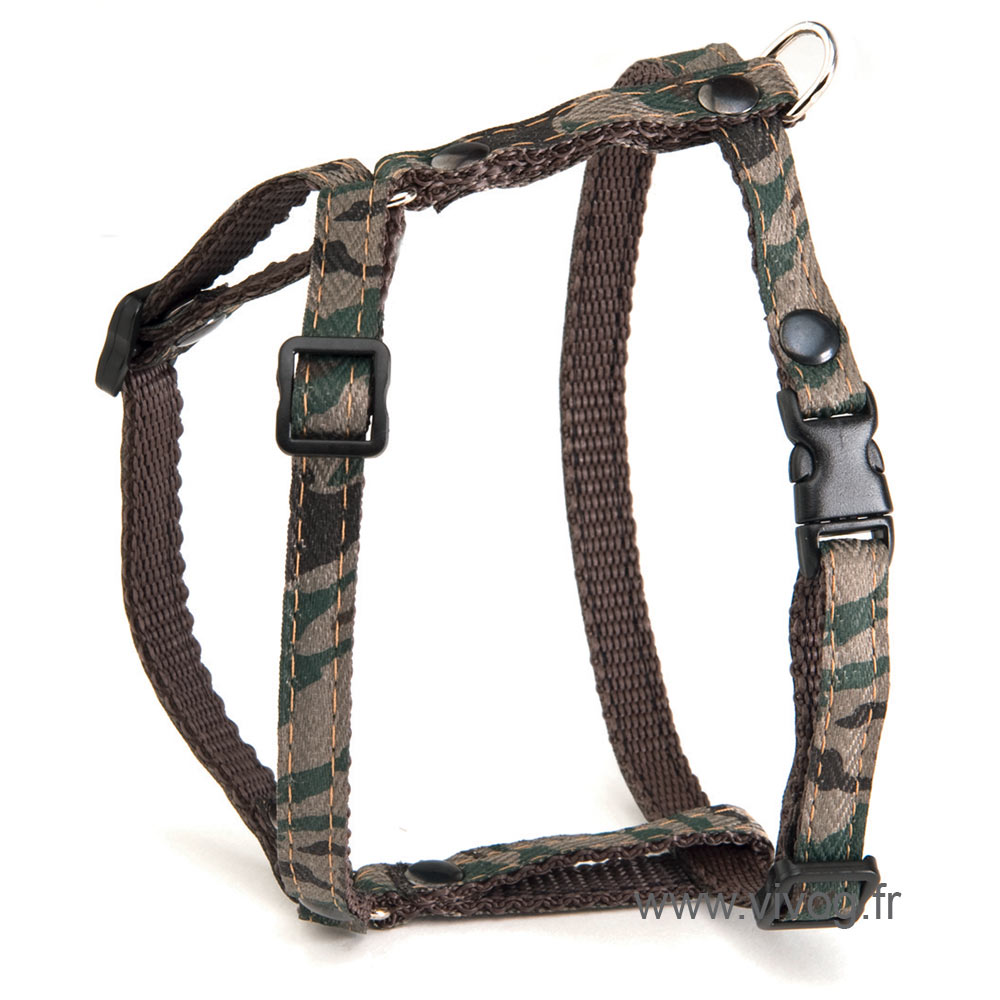 Adjustable Cat Harness - Camouflage - Green