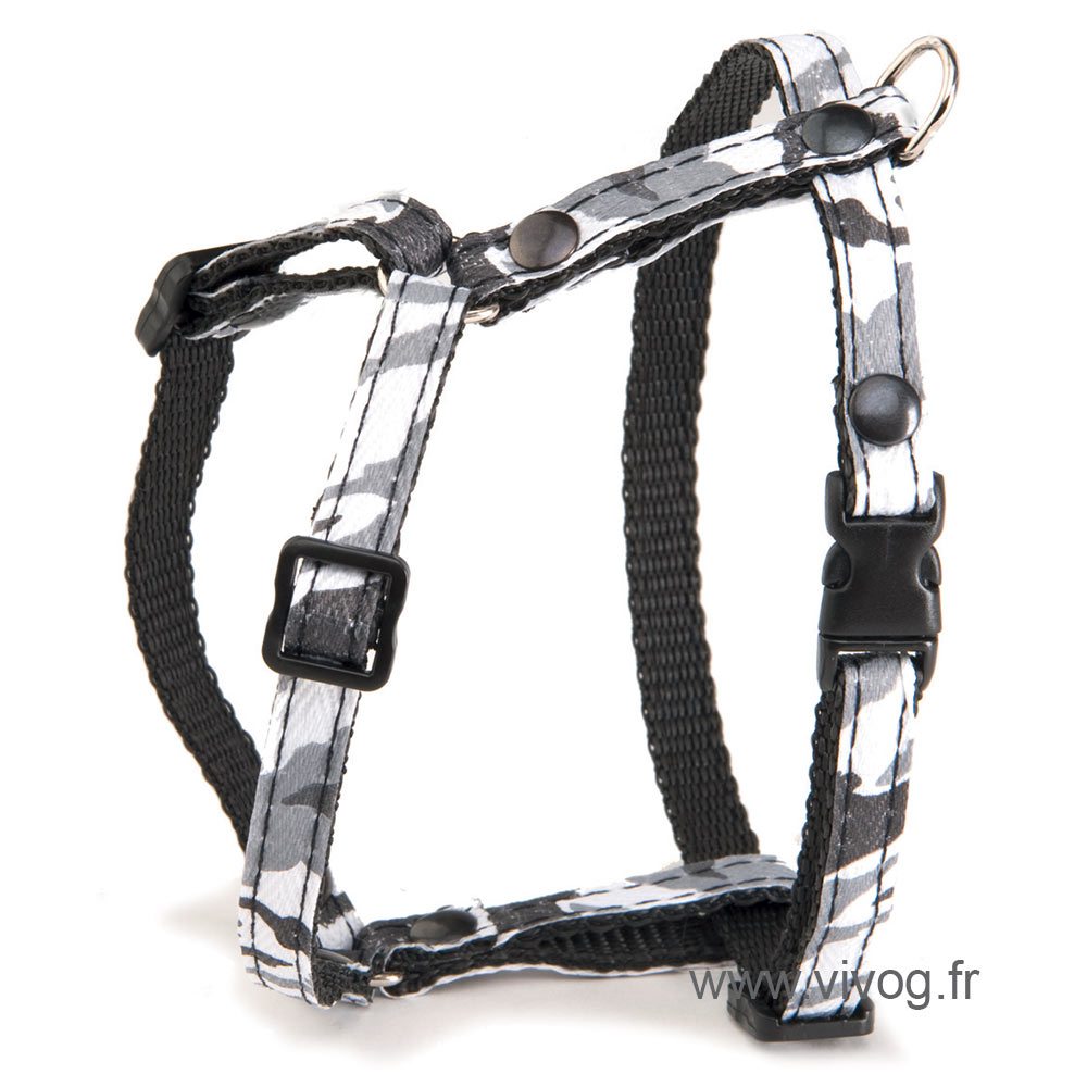 Adjustable Cat Harness - Camouflage - Grey