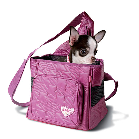 "Plus d'informations sur le produit : Sac besace de transport ""Pink Lilly"""