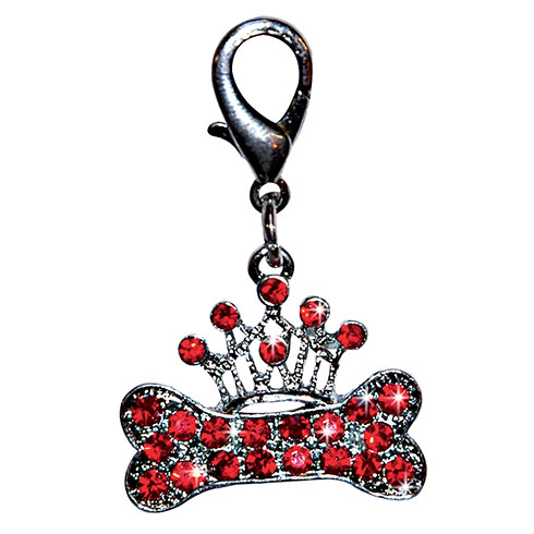More informations about:  « Bone & crown» pendant set with red rhinestones 3.0cm