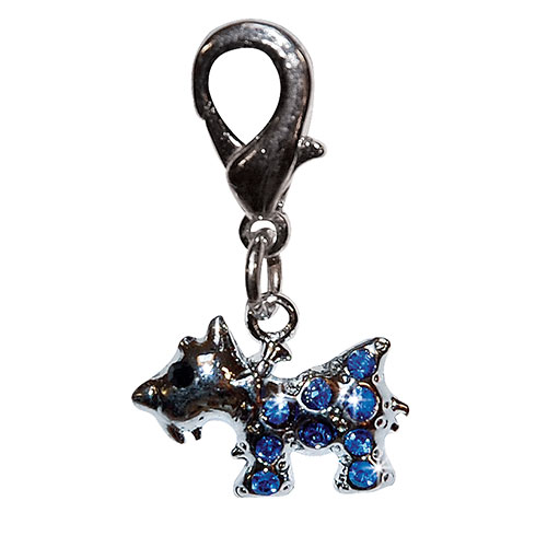 More informations about:  « Terrier » pendant set with blue rhinestones 2,0cm