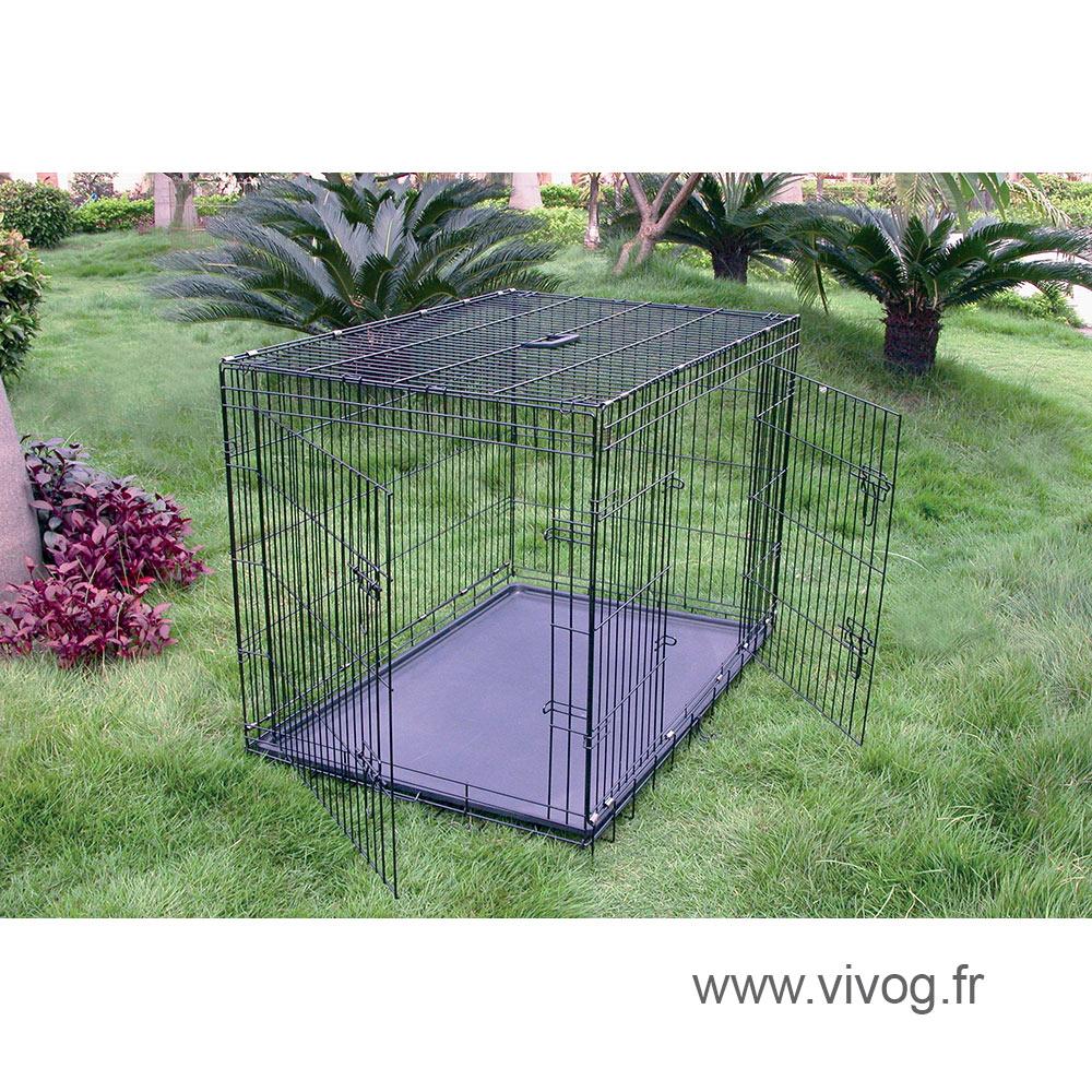 Cage de transport pliante Vivog en métal