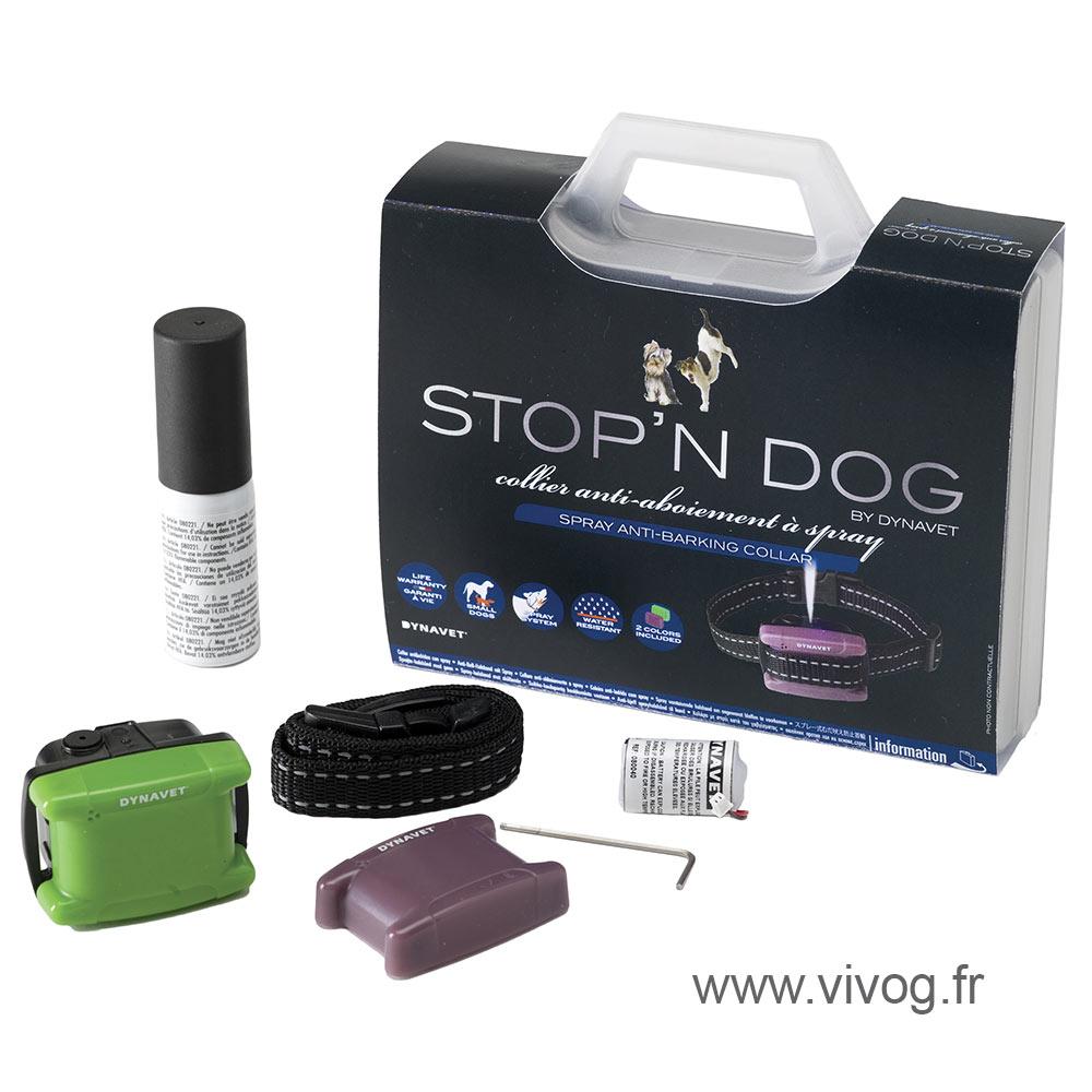Collier anti-aboiement à spray - Coffret Stop' N Dog spécial petis chiens